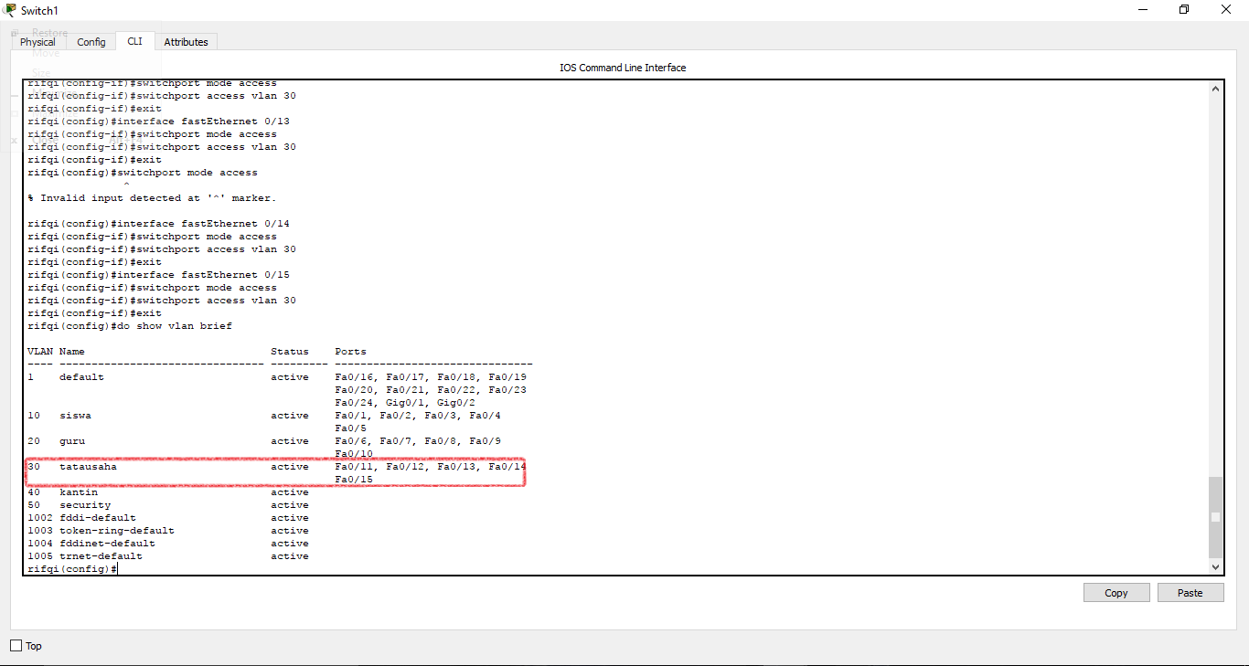 Studi Kasus Virtual Local Area Network Vlan 5 Segmentasi Root13 Configure Terminalinterface Range Fa0 4fa0 24switchport Mode 29