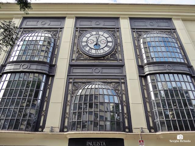 Close-up da fachada do Shopping Pátio Paulista - Bela Vista - São Paulo