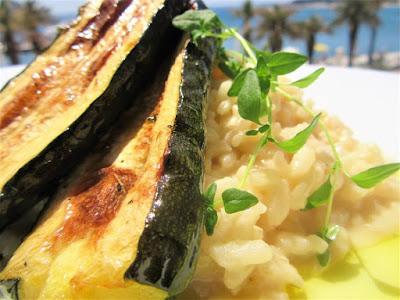Kremasti rižoto i pečene tikvice / Creamy risotto and roasted zucchini