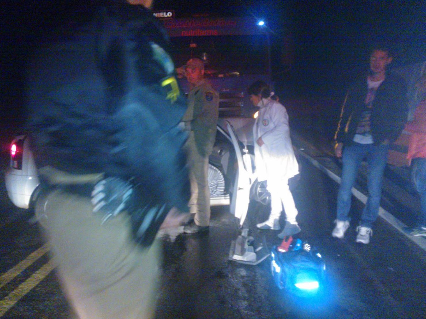 Acidente aconteceu na PR-151 próximo a ponte do Rio Cajuru