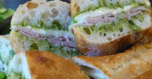 Pesto and Ham Sandwiches