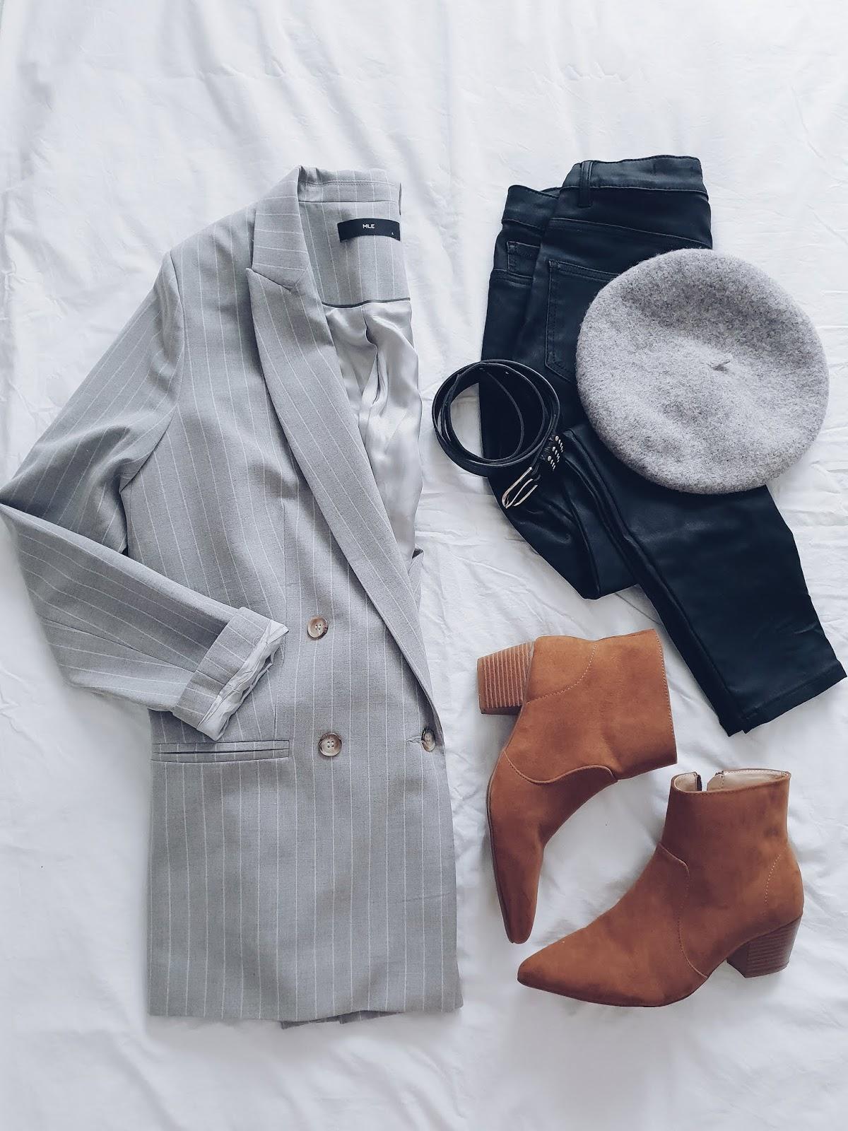 Grey & caramel czyli jesienny strój dnia