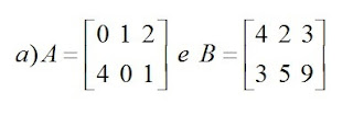 matriz a e b exemplo a