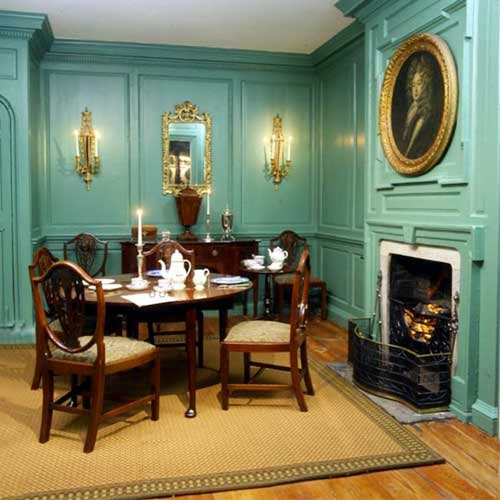 Georgian style homes and interior dining room classic design and furniture