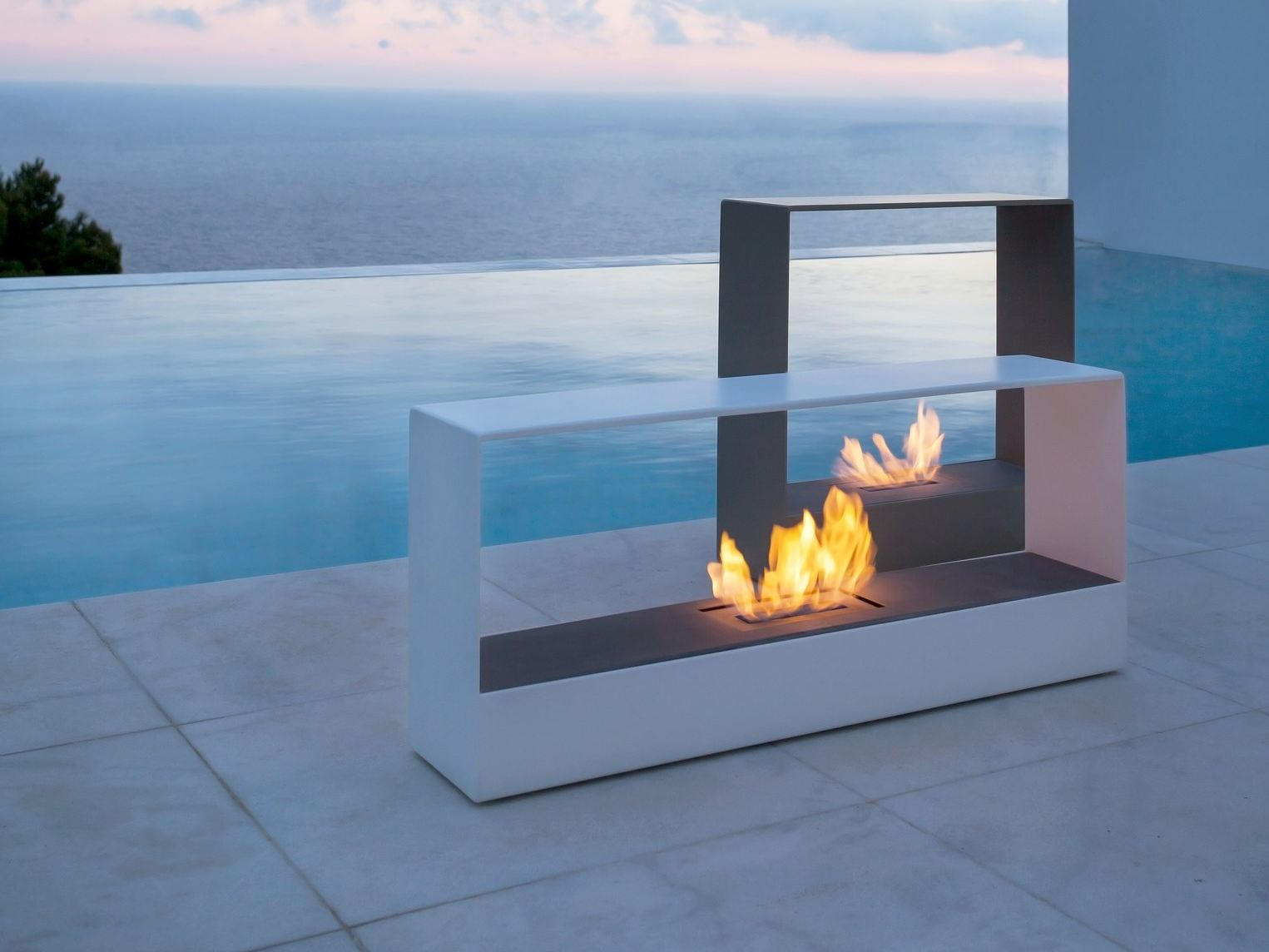 home priority outdoor fireplace design gives warm and elegant