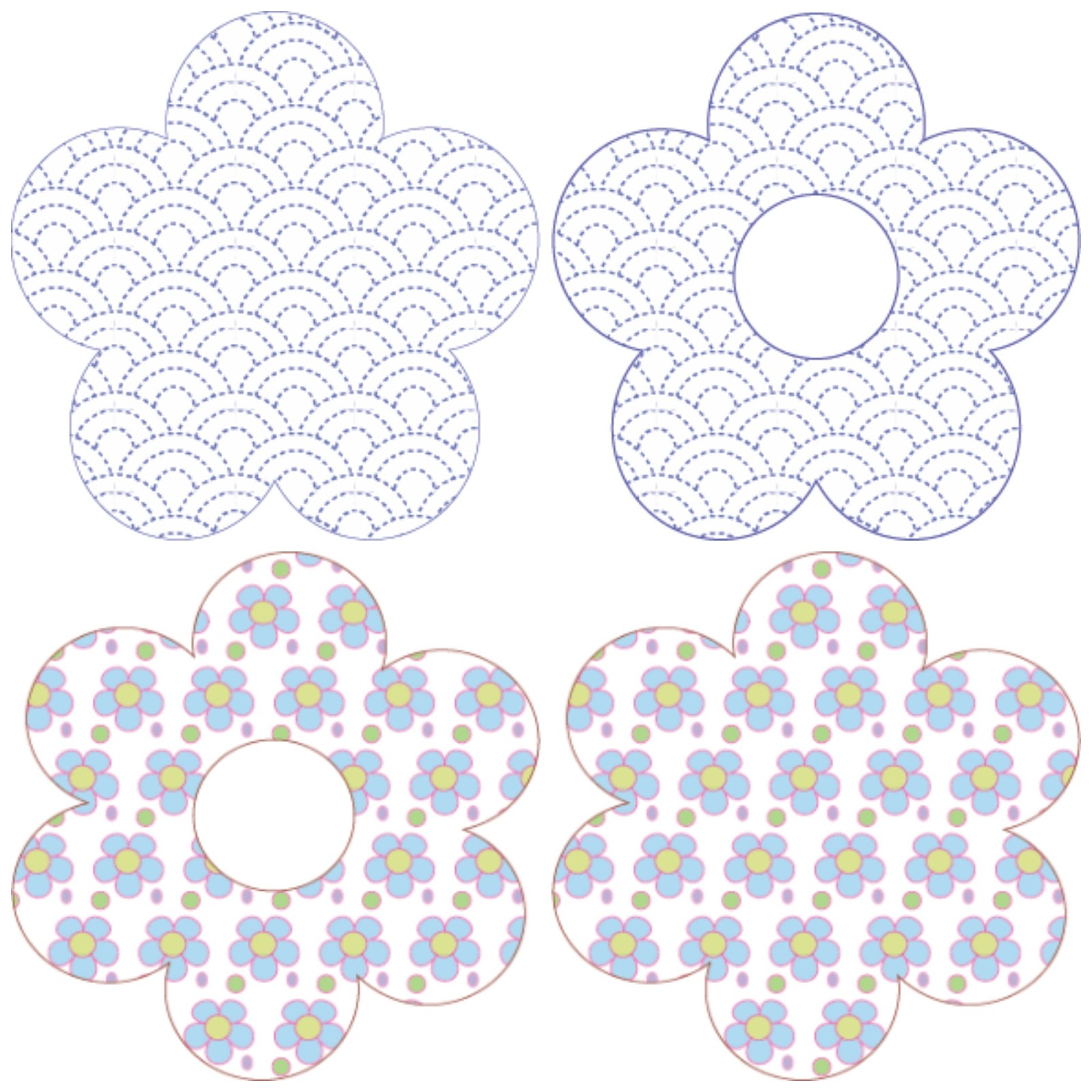 Flower Applique Templates