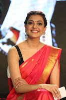 Kajal Aggarwal in Red Saree Sleeveless Black Blouse Choli at Santosham awards 2017 curtain raiser press meet 02.08.2017 064.JPG