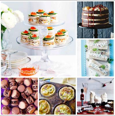 high tea recipe roundup cake sandwiches quiche tart macarons