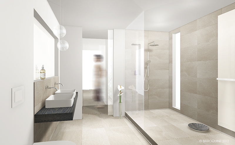 Baroquine Bad 14 qm Entwurfsphase HH-Wandsbek - badezimmer 8 qm