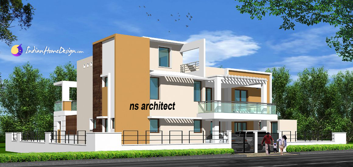 Tamil Nadu Style contemporary 2 bhk Home Design