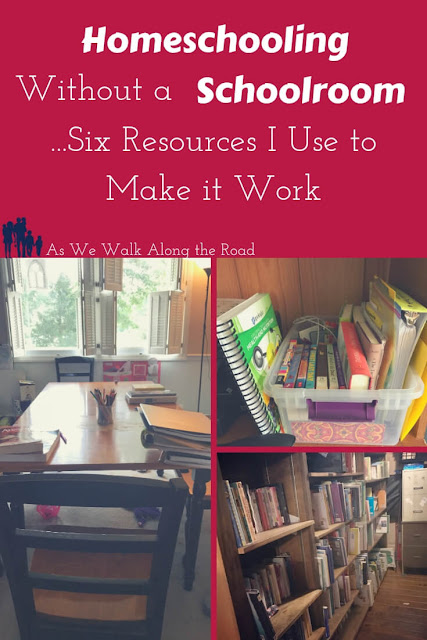 Here's a look at how I #homeschool without a #schoolroom. #AsWeWalk