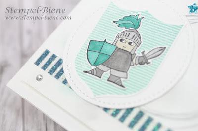 Kindergeburtstag, Rittergeburtstag, Stampinup; Märchenhaft; Ritterkarte; Matchthesketch