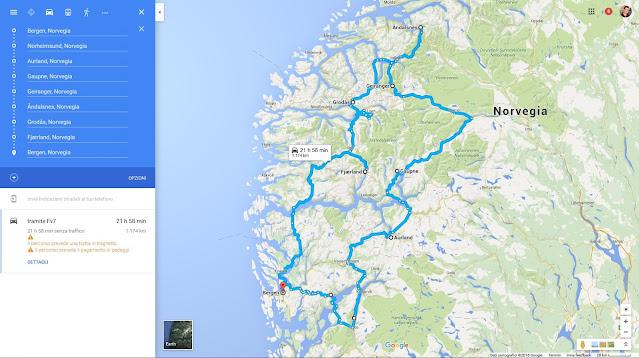 Itinerario on the road nei fiordi norvegesi