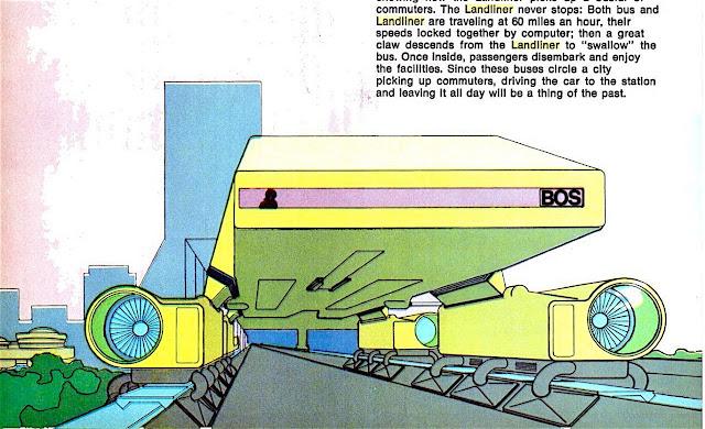 Ý tưởng về Bos-Wash Landliner của hai kiến trúc sư Craig Hodgetts và Lester Walker. Hình ảnh : New York Magazine/ Lester Walker.