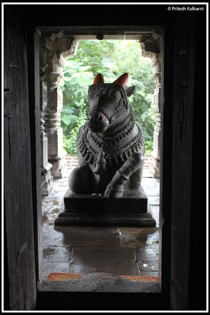 Nandi at Changa Vateshwar Temple, Saswad