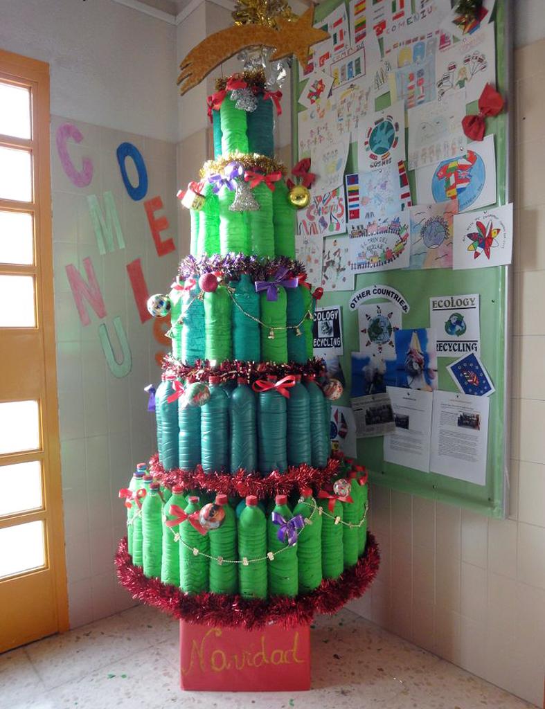 Mi mundo tu mundo adornos navidad con botellas pl sticas - Adornos navidad originales ...