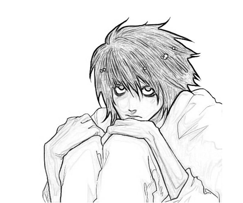 deathnote coloring pages - photo#19