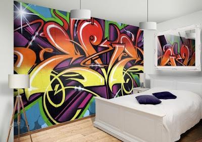 graffiti tapet cool tapet ungdomsrum fototapet färgglad ungdomstapet