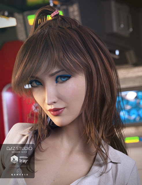 Tra La La Hair for Genesis 3 Female