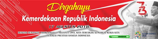 Spanduk Dirgahayu HUT RI 17 agustus cdr Terbaru 2018