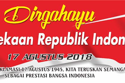 Spanduk Dirgahayu HUT RI ke 73 cdr Terbaru 2018
