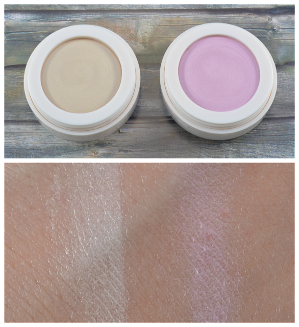 R de L Young eyebrightener creams 01 famous gloss 02 shiny rose und Swatches