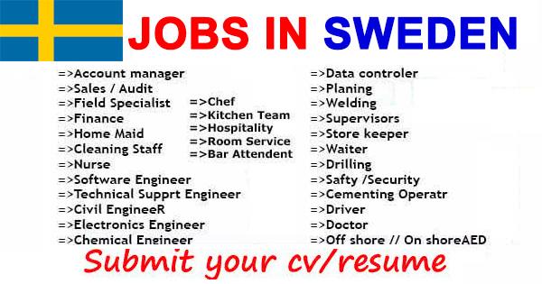 job offers in sweden