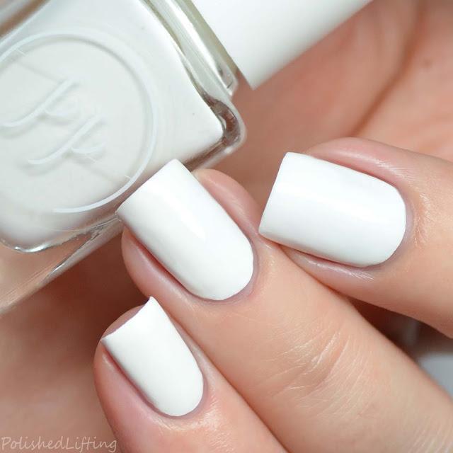 one coat white stamping nail polish
