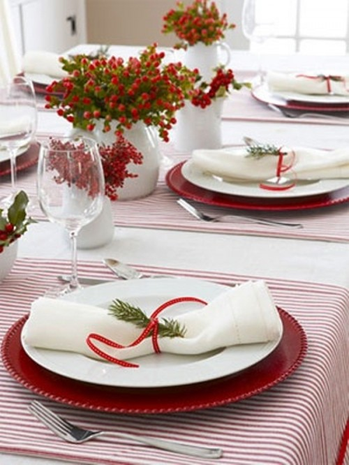 Winter wedding table d cor ideas wedding colours - Christmas table setting ideas ...
