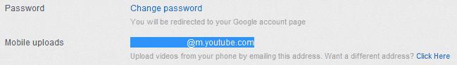 YouTube Upload Email