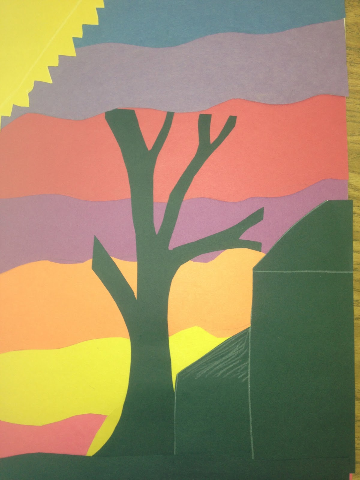 K 12 The Art Gallery Twilight Landscapes Layered Paper