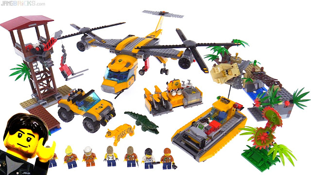 LEGO City Jungle Air Drop Helicopter playset review 60162