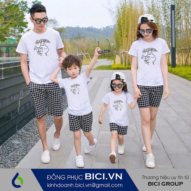 mẫu áo đồng phục gia đình 5
