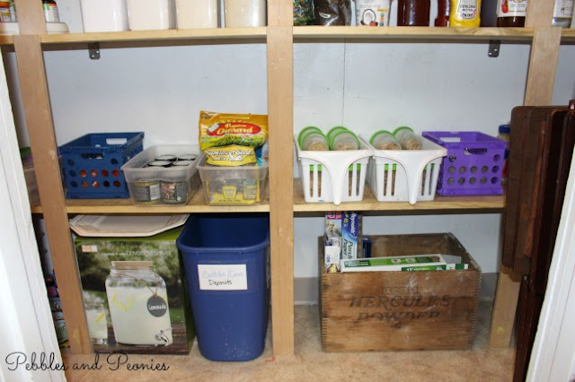 Organizing a pantry on a budget