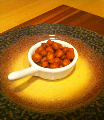 Roasted Chickpeas with Sriracha Hot Chili Sauce and Dixon Red Chile Powder