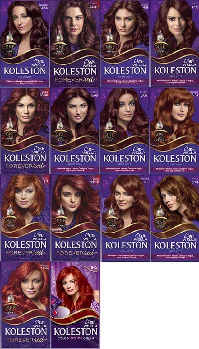 Koleston saç kızıl tonları