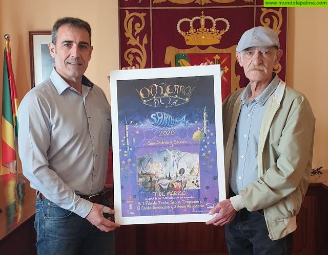 Juan Francisco Ortega, autor del Cartel Anunciador del  Entierro de la Sardina de San Andrés y Sauces