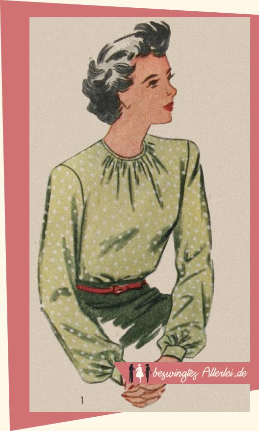 Bluse 40er Jahre - Simplicity 7708 1962