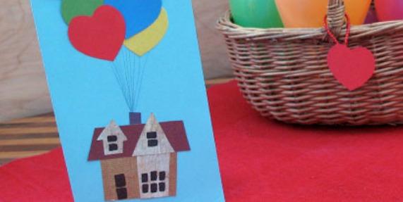 [WALENTYNKI] Bukiet Sercowych Balonów - Kartka