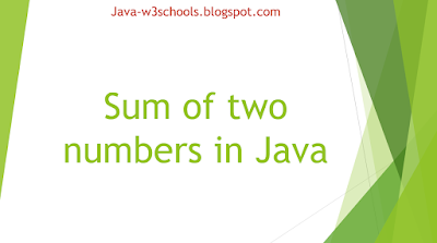 Sum of two numbers in Java