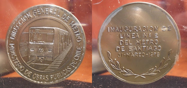 Medalla Inauguración Linea 2 Metro de Santiago