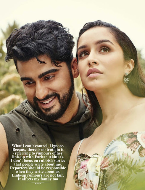 Arjun Kapoor and Shraddha Kapoor - Filmfare Photoshoot