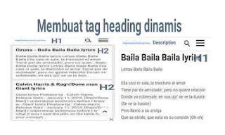 Cara membuat tag heading dinamis blog supaya high Seo Friendly