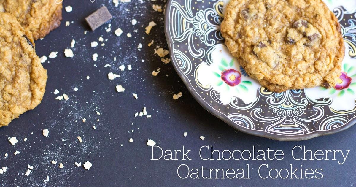 ... Milk-free: Dark Chocolate Cherry Oatmeal Cookies {gluten free + vegan