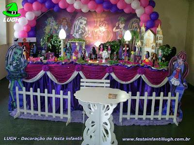 Decoração tema Monster High - festa infantil