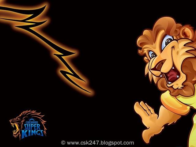 CSK Lion Cartoon Wallpaper