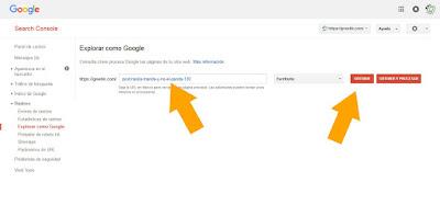 solicita cómo indexar en Google poniendo la terminación de la url tras el enlace princiopal