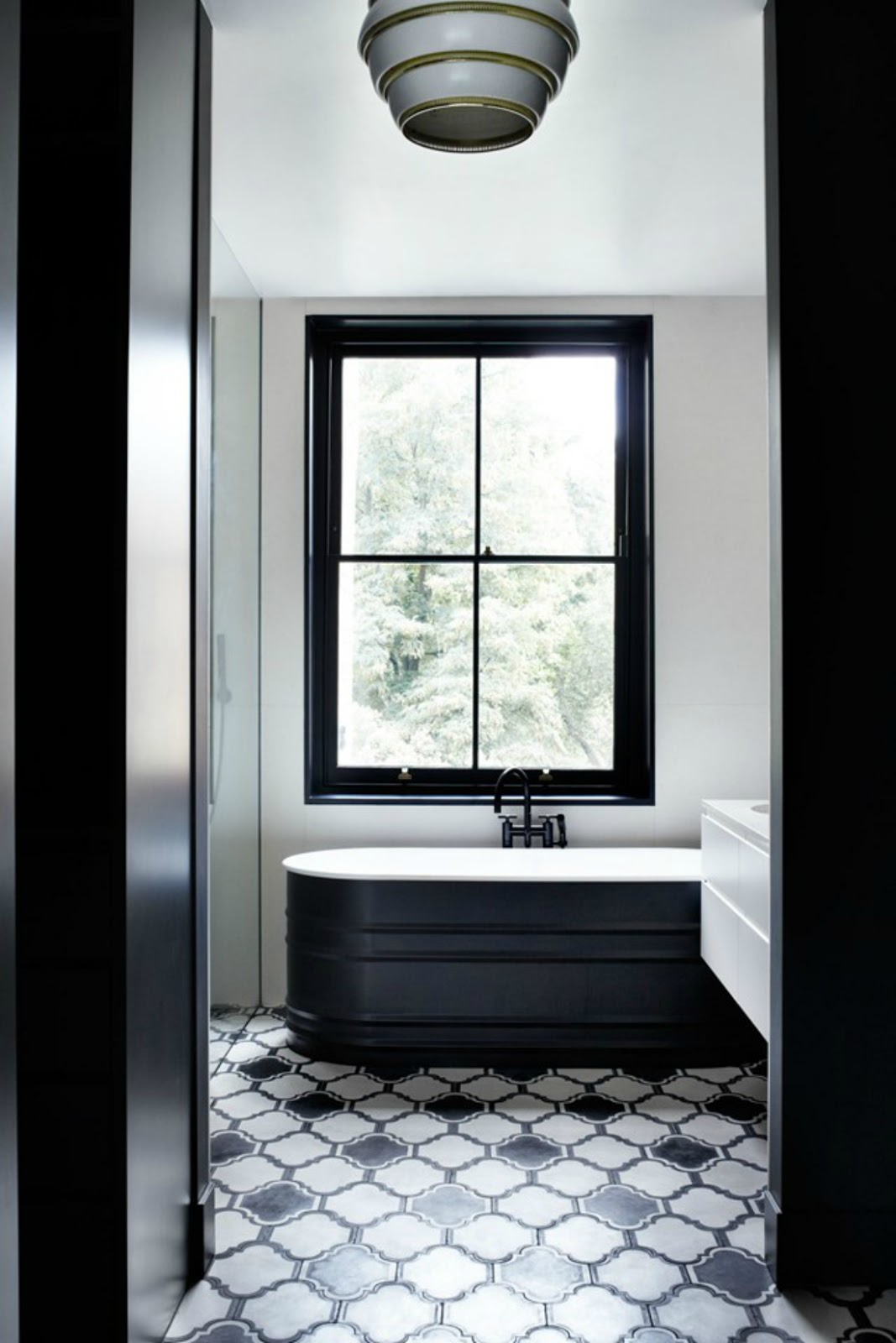 House garden uk - Black and white bathroom floor tiles ...