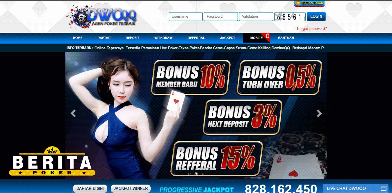 DWOQQ Agen Poker Bermutu Di Indonesia
