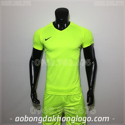 Áo bóng đá không logo Nike HHP Pro màu cxanh chuối